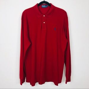 Polo by Ralph Lauren Small Pony Red Polo Size XL